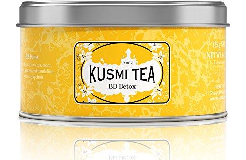 (Kusmi Tea BB Detox Green Tea - Yerba Mate, Rooibos, Guarana, Dandelion Infusion with a Hint of Grapefruit Perfect Rejuvenating Morning Boost (4.4oz Tin 50 Servings))