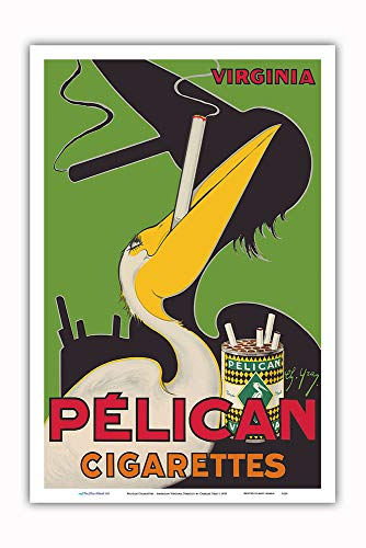 Advertising Cigarette - Pacifica Island Art - Pelican Cigarettes - American Virginia Tobacco - Vintage Advertising Poster by Charles Yray c.1925 - Master Art Print - 12in x 18in