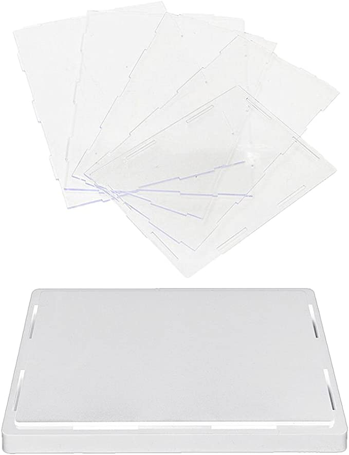 Homyl 3X Transparent Acryl Vitrine Schaukasten Display Box Case f/ür Automodell Puppenmodell usw.