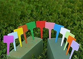 Outflower 120pcs Forma de T Planta Plástico Conector Etiquetas ...