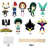 ANGOLIO 30Pack My Hero Academia Paper Card