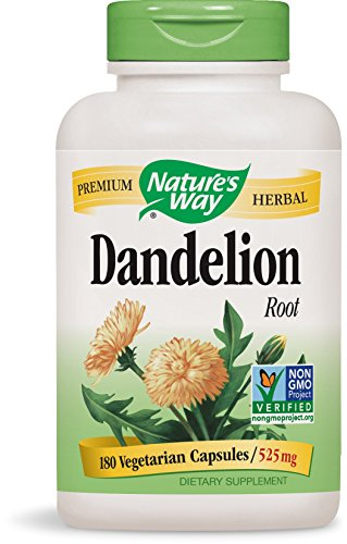 Nature's Way Dandelion Root Veg-capsules, 525 mg, 180-Count