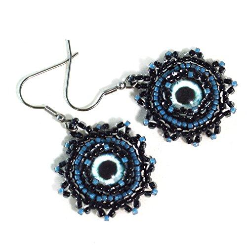 Mermaid Evil Eye Earrings – Surgical Steel Hooks