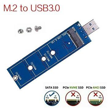 ELENASA M.2 USB 3.0 Adaptador, M2 SSD Reader, NGFF SATA basado B ...