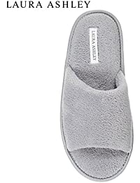 Womens Ladies Open Toe Plush Terry Slippers (See Colors and Sizes)