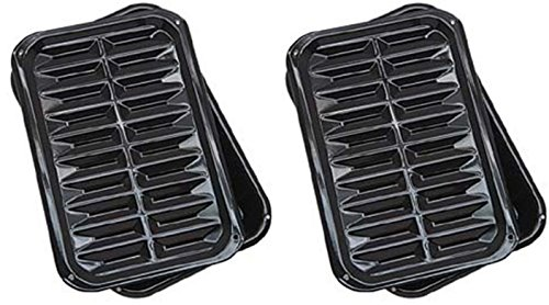Range Kleen BP106X 2 PC Porcelain Broil and Bake Pan 12.75 Inch by 8.5 Inch (2 Pack)