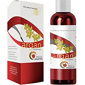 100% Pure Moroccan Argan Oil Hair Conditioner for Dry Damaged Frizzy Smoothing Hair Care All Natural Sulfate Free Silicone Free Fragrance Free Hypoallergenic Color Safe Ingredients for Sensitive Skin