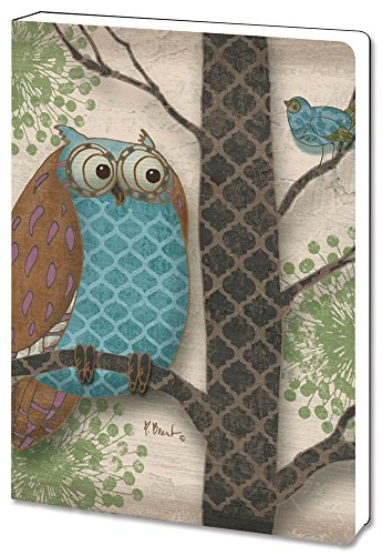 Tree-Relieve Greetings Recycled Soft Cover Journal, Ruled, 5.5 x 7.5 Inches, 160 Pages, Fantasy Owls Panel I Themed Paul Brent Art (88514)