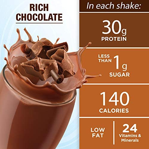 Pure Protein, Complete Protein Ready to Drink Chocolate Shake, 30g Whey Protein, Snack, With Vitamin A, Vitamin C, Vitamin D, and Zinc to Support Immune Health, 11oz, Pack of 12 2