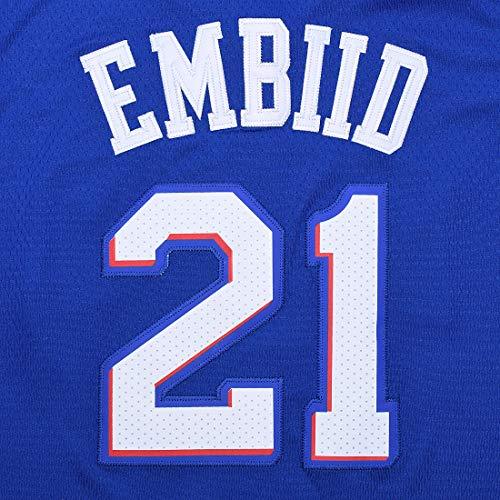 designer fashion 7b733 129f7 Outerstuff Youth 8-20 Philadelphia 76ers #21 Joel Embiid Jersey (Youth  Large 14/16, Blue)