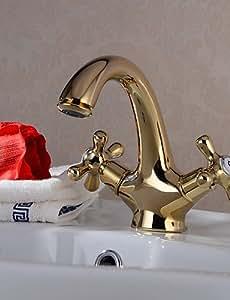 plxg (TM) baño lavabo grifos latón tradicional ti-PVD
