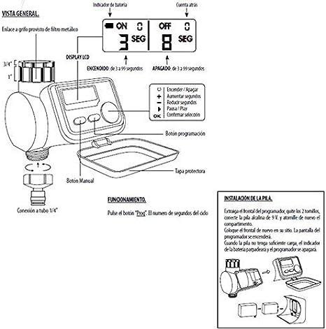 Maurer Programmateur LCD pour brumisateur