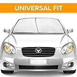 Car Sun Shade for windshield - sunshade cover for maximum UV protection - universal fit and easy storage. TriNova