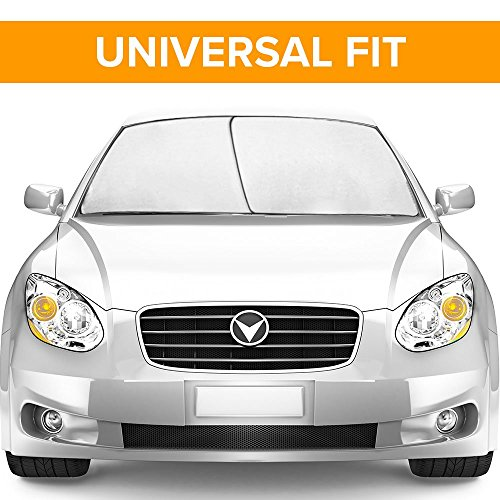 Car Sun Shade for windshield, sunshade cover for maximum UV protection, universal fit and easy storage. TriNova