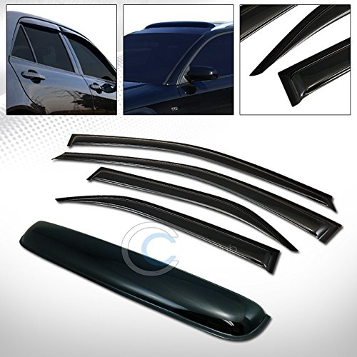 R&L Racing SMOKE SUN SHADE VENT WINDOW VISORS w/SUNROOF MOON ROOF GUARD 12-16 TOYOTA CAMRY