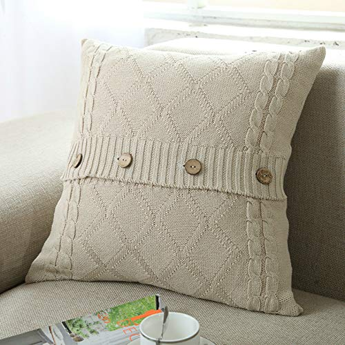Nuvole Knit Decorative Throw Pillow Cover, Soft & Cozy Throw Pillow Cover Case for 20