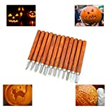 Gimars 12 Set SK5 Carbon Steel Wax & Wood Carving Tools Knife Kit for rubber, small pumpkin, Soap, Vegetables and more for Kids & Beginners with Reusable Pouch