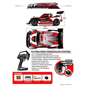 CARISMA GT24R(Red) 1/24 4WD Radio Control Rally Brushless RTR set with Lipo Battery