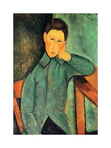 The Art Stop Painting Amedeo Modigliani BOY Blue Jacket Old Master Print - Modern Modigliani Poster