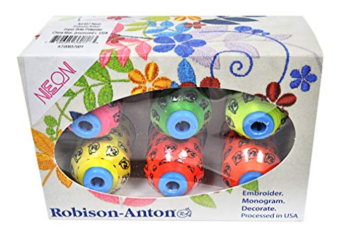 Robison-Anton Polyester Mini King 6 Spool Gift Pack - Neon