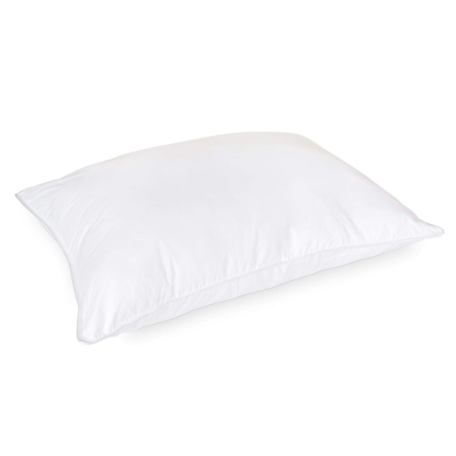 DOWNLITE Luxury Hotel Style 50% Goose Down and 50% Goose Feather Blend Pillow - Medium Density