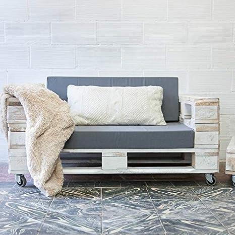 1 x SOFÁ con Ruedas para Interior & Exterior de 3 Plazas - Mueble de Terraza & Patio & Jardín ...