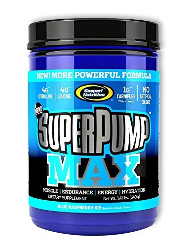 Gaspari Nutrition Super Pump Max Blue Raspberry 40 Serving
