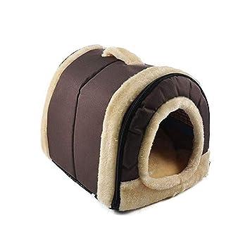 LJSHU Cama para Mascotas Cómoda Y Suave De Doble Uso Plegable Lavable Perrera para Perros Y Gatos Casa De Mascotas De Felpa: Amazon.es: Deportes y aire ...