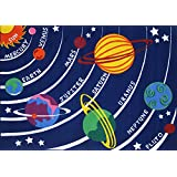 LA Rug FT-170 5376 Fun Time Collection - Solar System Rug - 5 Ft 3 In x 7 Ft 6 In