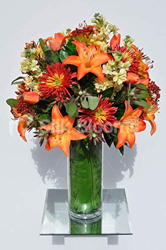 Amazon Silk Blooms Ltd Artificial Flame Orange Oriental Lily