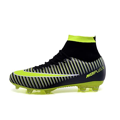 new high quality classic shoes best price PLing Unisex Breathable Football Boots with Cleats Lace-Up Soccer Shoes  High-Top for Men/Women/Boys/Girls