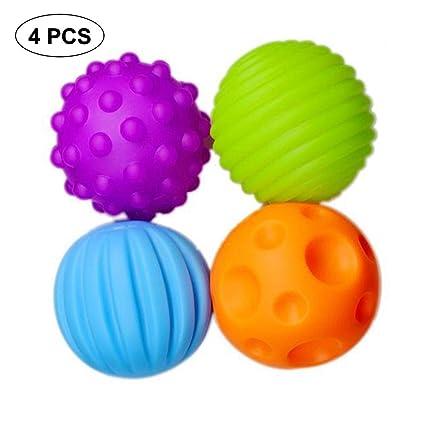 KOBWA - Pack de 4 bolas sensoriales superduraderas d7f3adc73f11