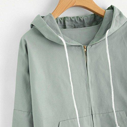 a Felpa con Maniche T Tops Shirt Camicie Verde orecchino Dolce Corto Autunno Camicette Lunghe Corte Casual Cappotto Elegante Pullover Donna Maniche ABCone E8qwFXO8