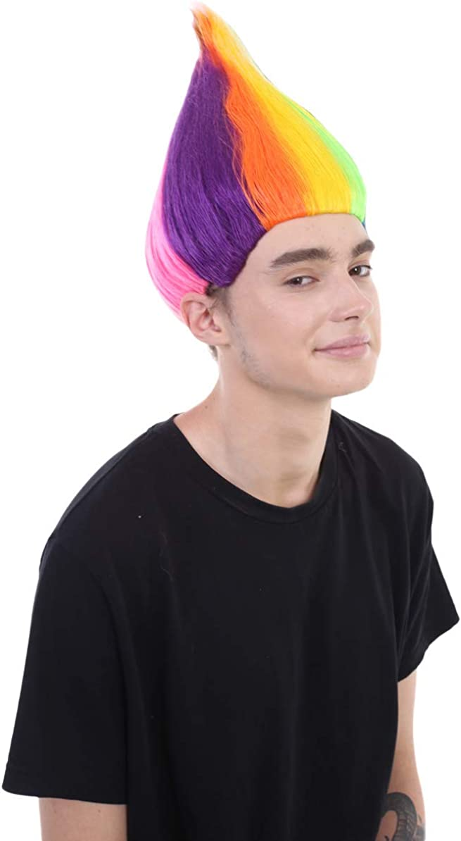 Halloween Party Online Colourful Troll Wig Collection with Kids and Adult Sizes