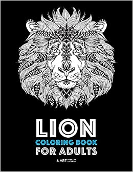 Lion Coloring Book For Adults Detailed Zendoodle Animals