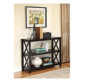 Wonderful Black Occasional Console Sofa Table Bookshelf