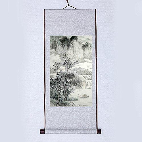 JZ014 Hmayart kakejiku Blank Mounting Hanging Wall Scroll Set for Kanji, Sumi and Chinese Calligraphy (6pcs/Set) (Scroll Size: 14.96'' x 41.34'' (38 x 105 cm)) by Hmayart (Image #4)