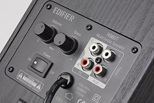 Edifier R980T 4'' Active Bookshelf Speakers - 2.0 Computer Speaker - Powered Studio Monitor (Pair) by Edifier (Image #3)