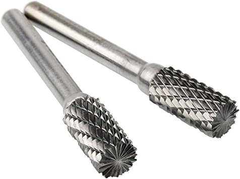 Single Cut Cylindrical End Cut 1//4 x 1//8 x 1//2 x 2 Carbide Burr SB-11