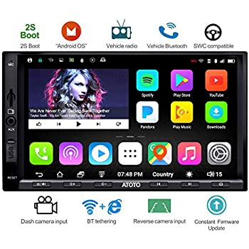 ATOTO A6 Double Din Android Car Navigation Stereo with Dual Bluetooth - Standard A6Y2710SB 1G/16G Car Entertainment Multimedia Radio,WiFi/BT Tethering ...