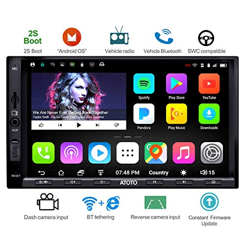ATOTO A6 Double Din Android Car Navigation Stereo with Dual Bluetooth - Standard A6Y2710SB 1G/16G Car Entertainment Multimedia Radio,WiFi/BT Tethering Internet,Support 256G SD &More (Car Head Unit Installation Kit)
