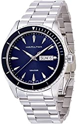 Hamilton Men's 'Jazzmaster Seaview' Swiss Quartz Stainless Steel Casual Watch, Color:Silver-Toned (Model: H37551141)