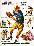 San Francisco 49ers vs Baltimore Colts Football Program (December 16, 1961) ** Kezar Stadium San Francisco**
