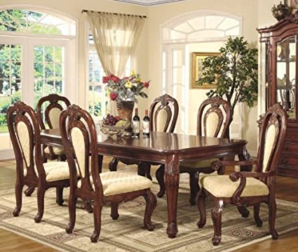 Amazon.com: Marbella Dining 7 PC Set (table, 4 chairs & 2 ...