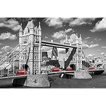 Amazon Com London Red Bus Big Ben Photography Poster