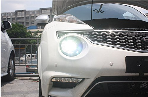 GOWE Car Styling for Nissan JUKE headlights 2013 2014 2015-2018 led ESQ headlight Head Lamp led drl projector headlight h7 hid Color Temperature:4300k;Wattage:55w 2