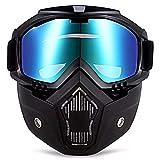 Argum Mascara Motocicleta Bicicleta Goggles Careta Desmontable Protector Acolchado Color Tornasol