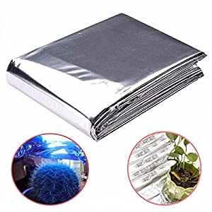 82x47 Inch Silver Plant Reflective Film Grow Light Accessories Greenhouse Reflectance Coating