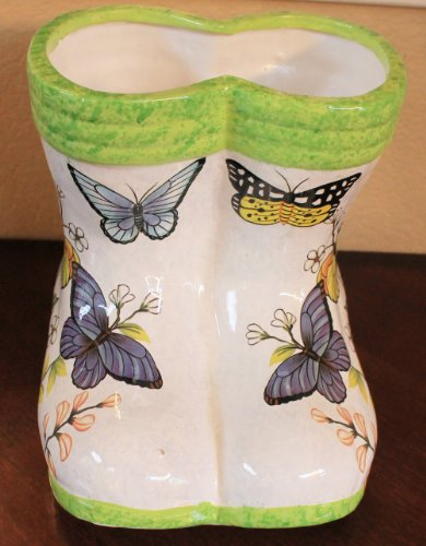 Butterfly Flower Plant Planter Garden Yard Decoration Boot Shaped F044 BY