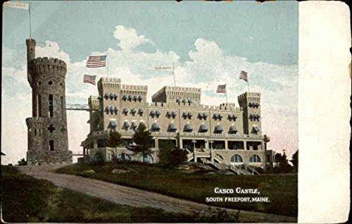 Gasco Castle South Freeport, Maine Original Vintage Postcard